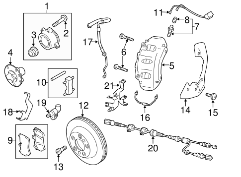 Brake Pads Mount Kit