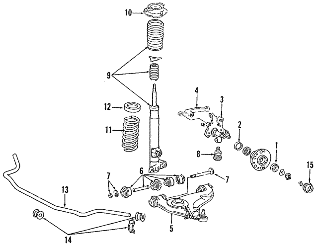 Control Arm - Mercedes-Benz (124-330-19-07)