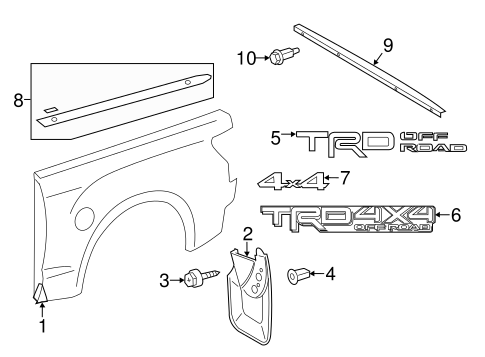 BODY/EXTERIOR TRIM - PICK UP BOX for 2016 Toyota Tundra #3