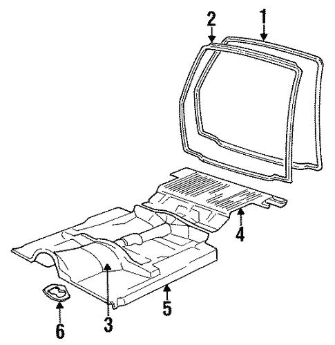 Oem 1987 Chevrolet S10 Blazer Rear Body Parts