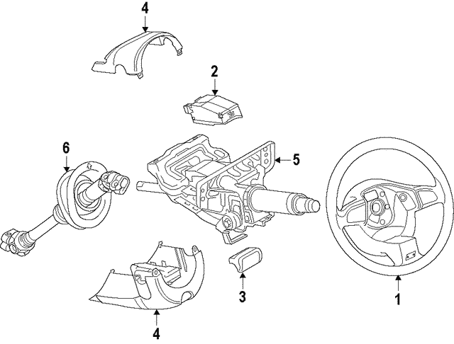 Steering Wheel - Audi (8R0-419-091-AM-IWS)