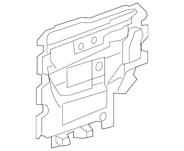 Water Deflector Left Gm 20790450