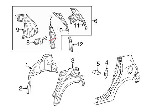 BODY/INNER STRUCTURE for 2014 Toyota Prius C #1