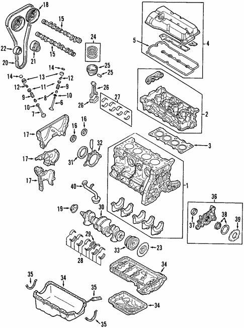 Genuine Oem Engine Parts For 2003 Mazda Protege Mazdaspeed
