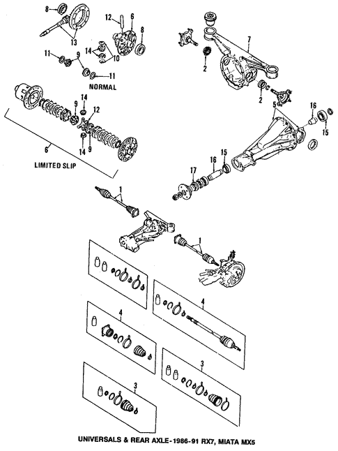 Propeller Shaft For 1994 Mazda Miata