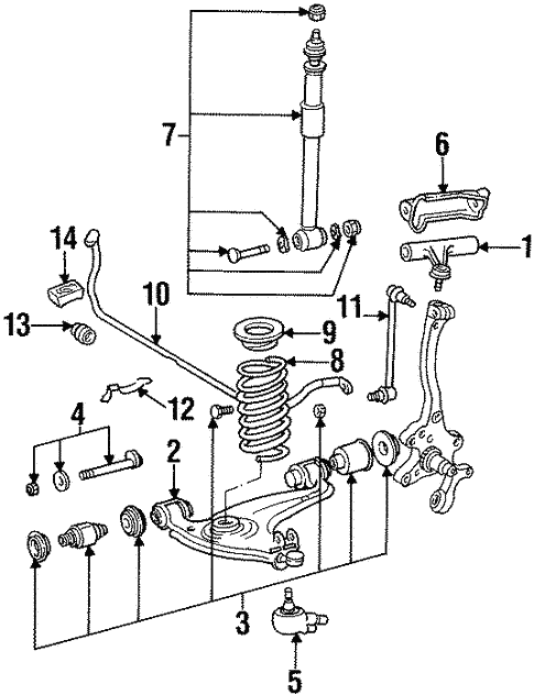 Suspension Components for 1994 Mercedes-Benz S 420 #0