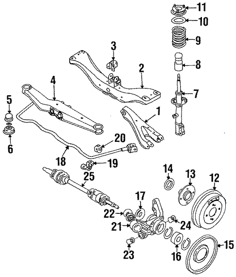 Rear Suspension For 1986 Nissan Stanza