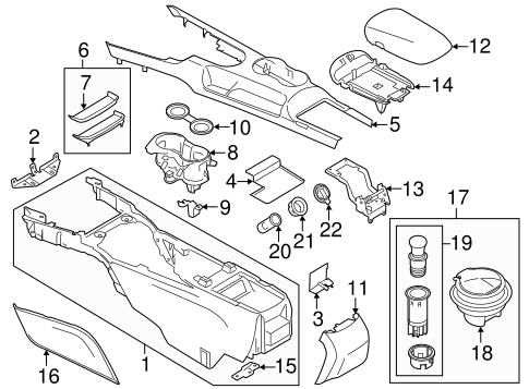 Console For 2015 Ford Mustang