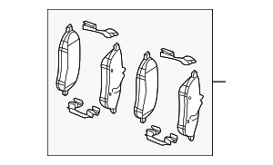 Brake Pads - Mercedes-Benz (007-420-84-20)