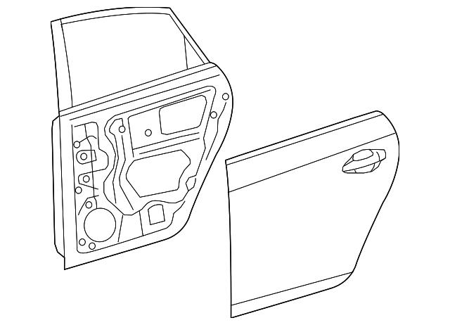 2010 2015 Toyota Door Shell 6700447070