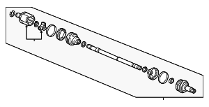 Drive Shaft Assembly, R - Honda (42310-T6Z-A01)