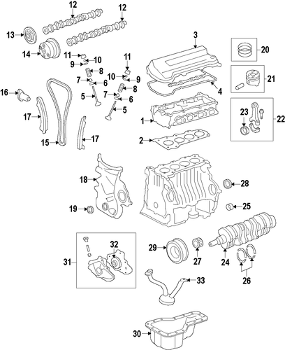 oem 2009 pontiac vibe oil pan parts