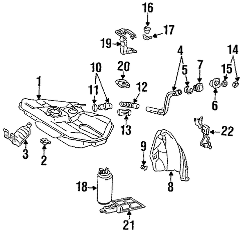 FUEL SYSTEM/FUEL SYSTEM COMPONENTS for 1996 Toyota Paseo #1