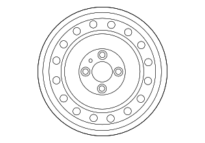 Wheel, Steel - Nissan (40300-9AD0A)