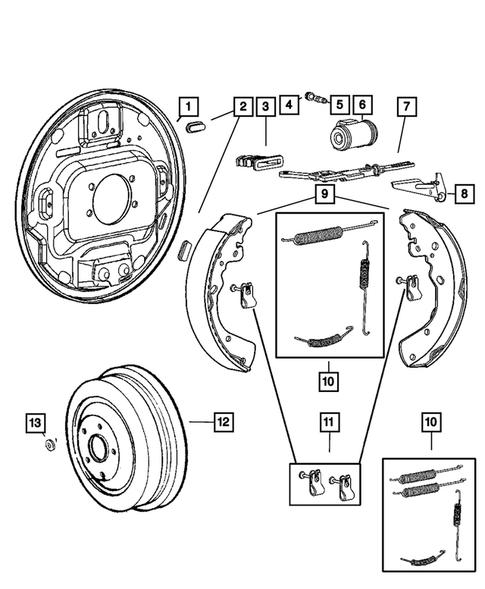 Drum Brake Adjuster Mopar 5159119AA