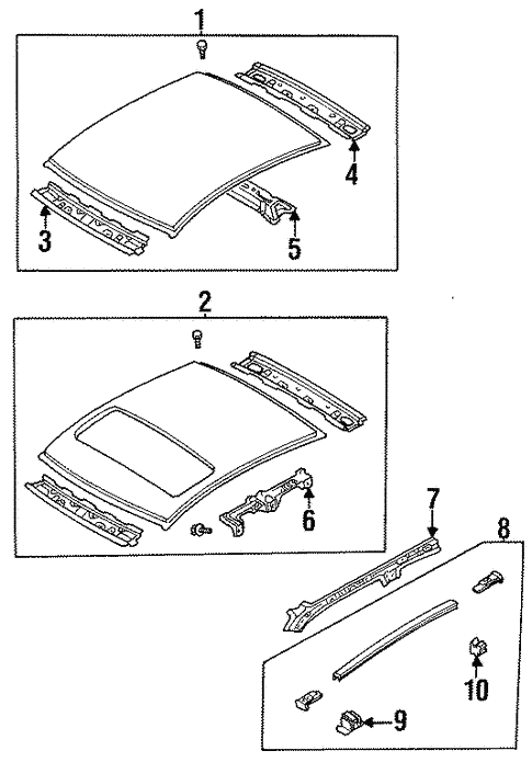 Roof & Components for 1997 Mazda Protege #0