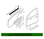 Belt Weather-Strip - Nissan (80835-ET000)