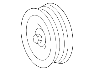 Pulley - Mercedes-Benz (000-202-16-19)