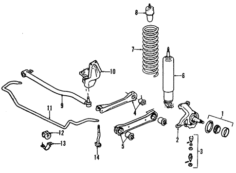 Front Suspension For 2000 Jeep Wrangler Mopar Parts