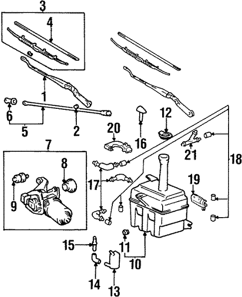 Wiper Washer Components For 1998 Hyundai Accent