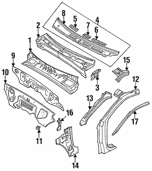 oem honda replacement grilles hondaparts Honda Car Parts Diagram grille air in