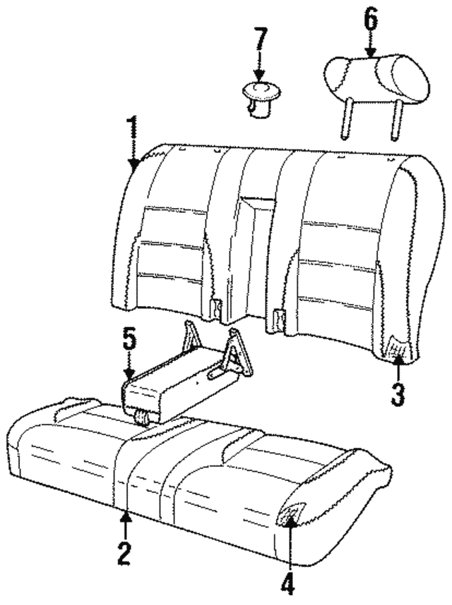 1995 1997 Jaguar Seat Cushion Gna5312bandr