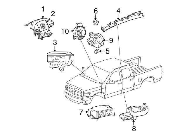 2004 2009 Dodge Driver Inflator Module 1bp52xdhab