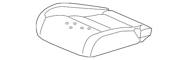 Front Honda Genuine 81131-TR3-V21ZC Seat Cushion Trim Cover Right