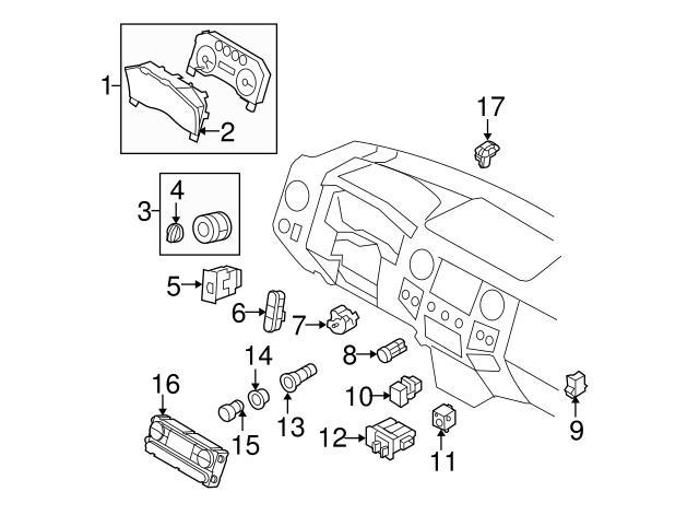 2009 2010 Ford Dash Control Unit 9c3z 19980 K
