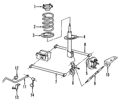 rear suspension for 2005 dodge neon parts wermopar we. Black Bedroom Furniture Sets. Home Design Ideas