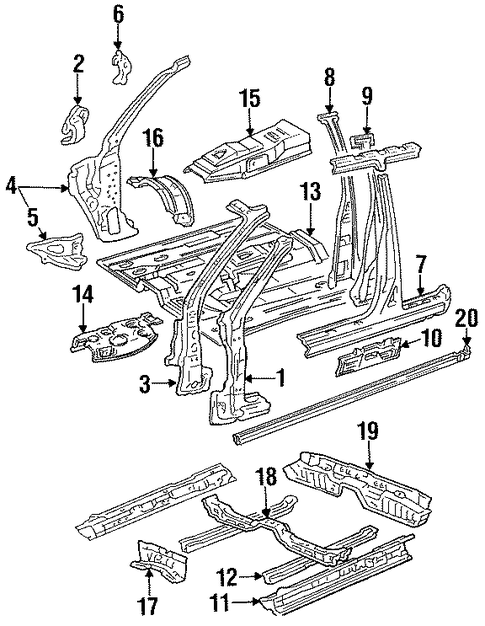 BODY/FLOOR for 1996 Toyota Camry #1