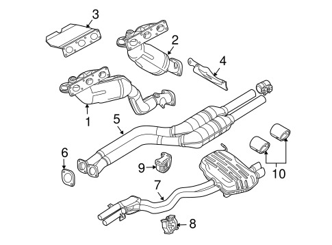 Exhaust Components For 2004 Bmw Z4