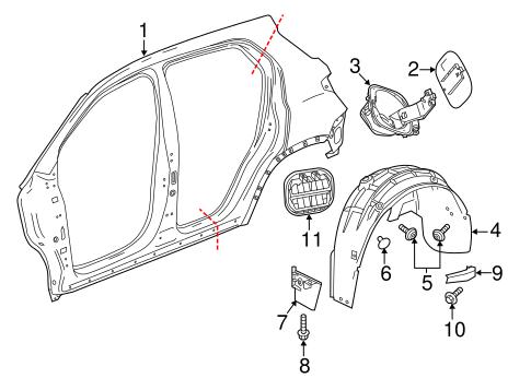 Quarter Panel Components For 2019 Chevrolet Equinox Gmpartonline
