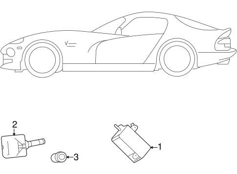 Tire Pressure Monitor Components For 2010 Dodge Viper