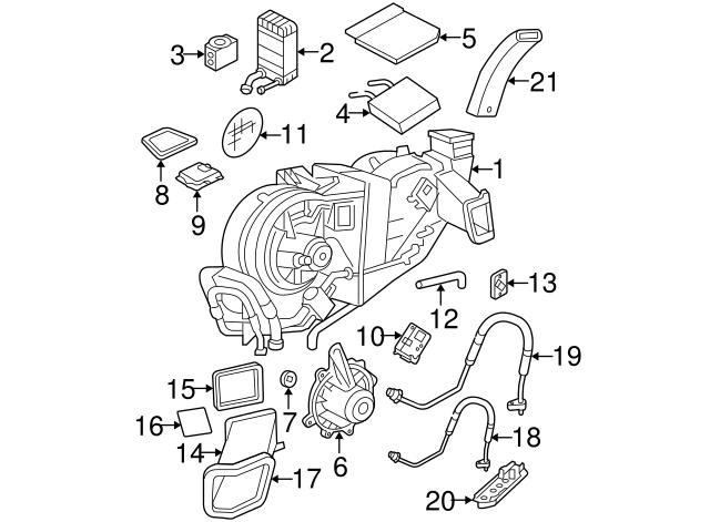 FORD OEM HVAC-Motor Assembly YL5Z19E616AA
