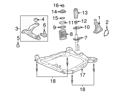 oem 2005 chevrolet cobalt suspension components parts