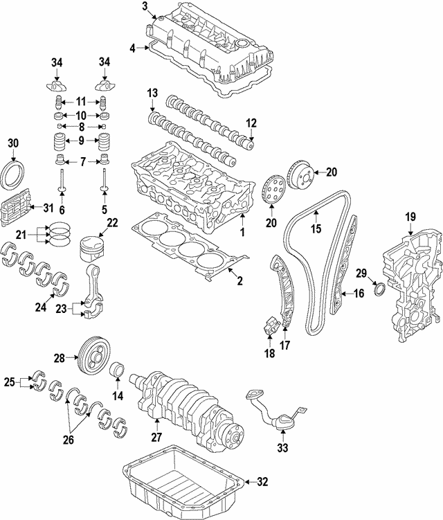 2013 Hyundai Genesis Coupe Head Gasket: 2017-2018 Hyundai Ioniq Head Gasket 22311-03HA0