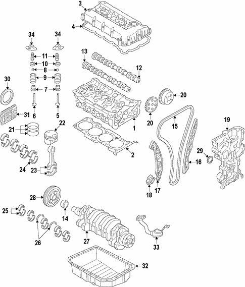 Engine For 2017 Hyundai Ioniq