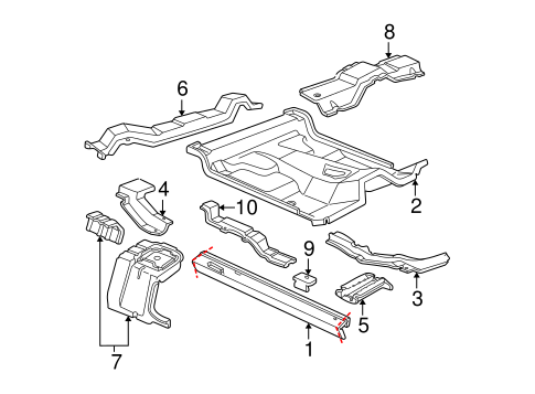 Body/Floor - Cab for 2000 Ford Ranger #2
