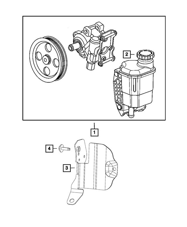 Genuine Chrysler 4656516AA Power Steering Reservoir Cap