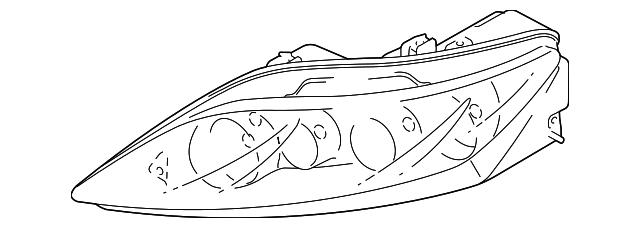 Genuine Mazda CG36-51-0K0E Headlamp Unit
