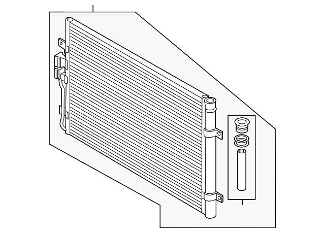 Genuine Volkswagen Radiator Support 3CN-805-588-A