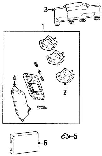 oem 1997 oldsmobile achieva ignition system parts. Black Bedroom Furniture Sets. Home Design Ideas