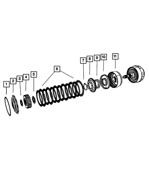 Gear Train for 2013 Chrysler Town & Country #2