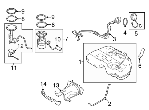Fuel System Components for 2016 Nissan Murano #0