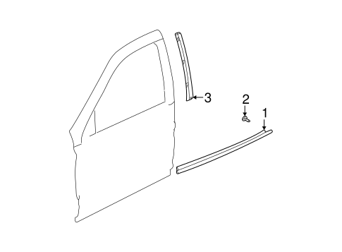 Exterior Trim - Front Door for 2000 Saturn LS #0