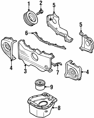 Inner Timing Cover - Subaru (13568AA120)