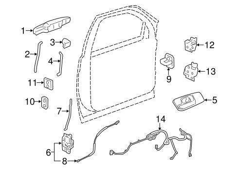07 08 gmc sierra 1500 2500hd 3500hd sle wt left door lock. Black Bedroom Furniture Sets. Home Design Ideas