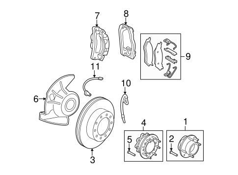 Brakes/Brake Components for 2011 Ford F-250 Super Duty #3