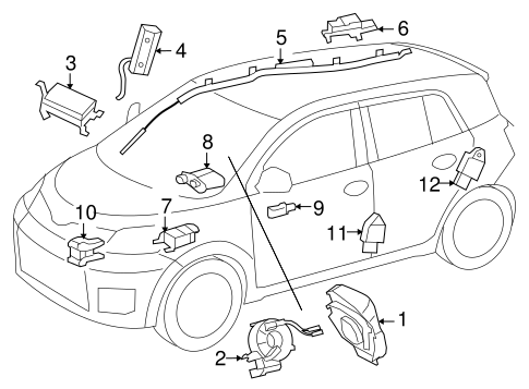 ELECTRICAL/AIR BAG COMPONENTS for 2014 Scion xD #1
